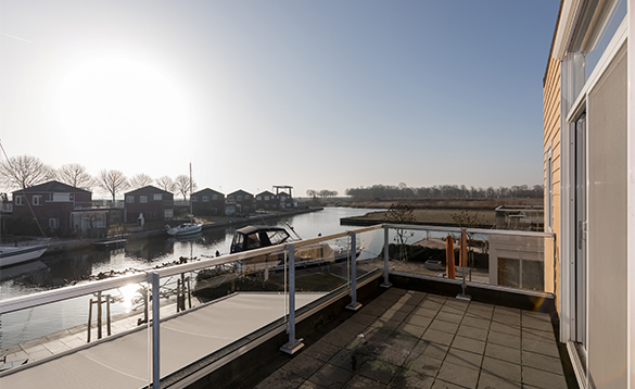 View across the marina at Nautic Rentals, Oude Tonge/