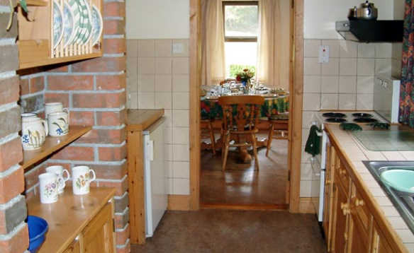 View through the kitchen to the dining area at Cornode self-catering, Tipperary/