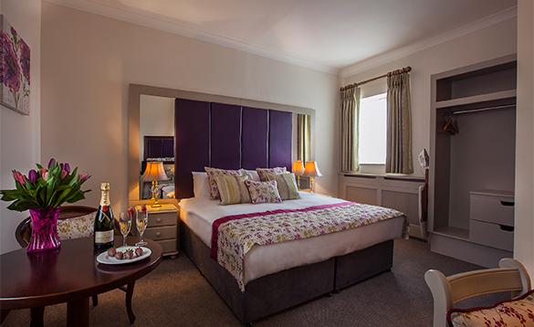 Luxurious bedroom with double bed at the Breffni Arms, Arva, Ireland/