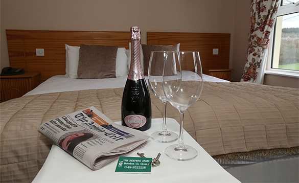 Bedroom at the Keepers Arms with double bed/
