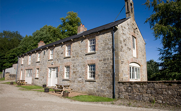 Stone terraced cottages on Belle Isle Estate/