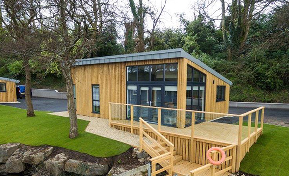 Wooden Killyhevlin self-catering chalet/