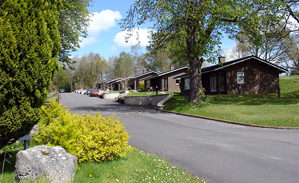 Road leading past the self-catering cottages in the Manor House Hotel grounds/