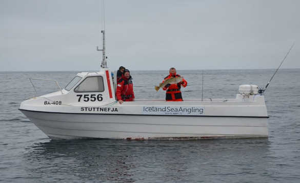 Group of anglers on a Iceland Sea Angling boat/
