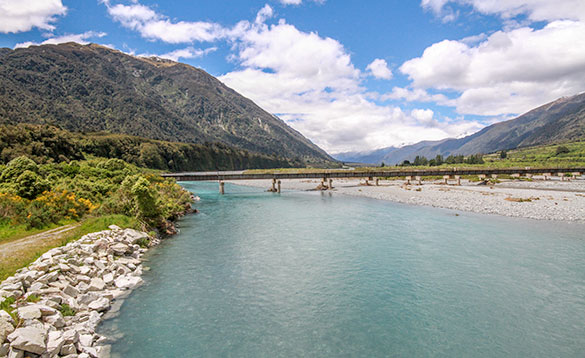 Clear water river on the south west coast of the South Island/