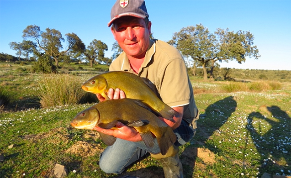 summer eveing coarse fishing in Spain/