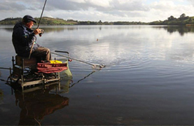 Coarse fishing on the water in Ireland