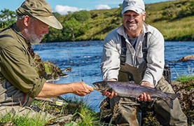 Game fishing catch in Ireland featuring John Horsey