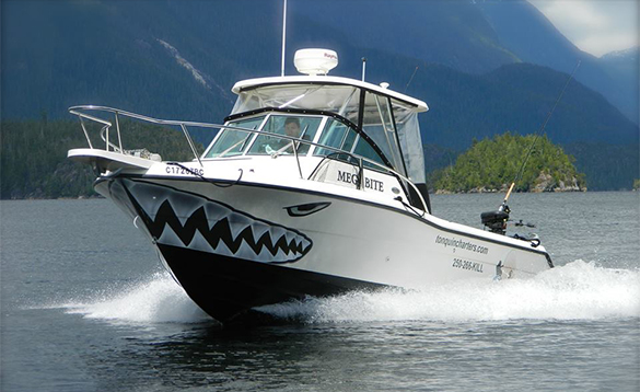 Tonquin Fishing Charters boat in Tofino/