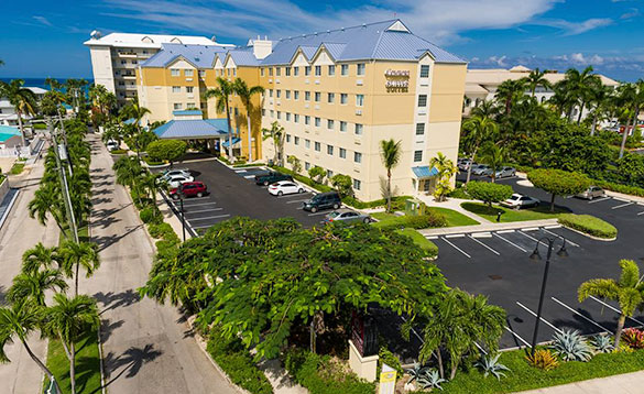 Exterior of the Comfort Suites Hotel, Grand Cayman/