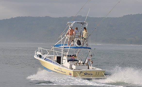 Anglers in a boat in Costa Rica/