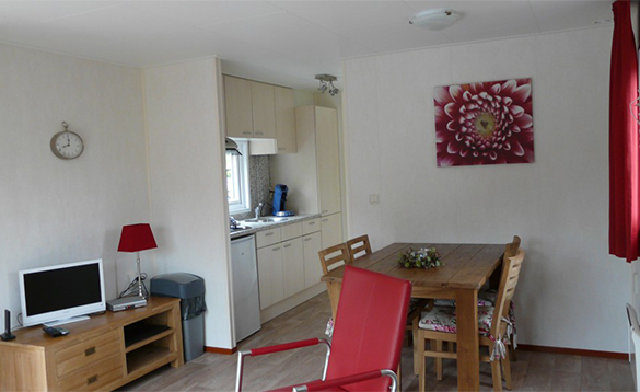 Dining area in Premium Chalet at De Visotter holiday park/