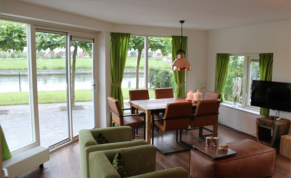 Living room in a villa at Nautic Rentals, Oude Tonge/