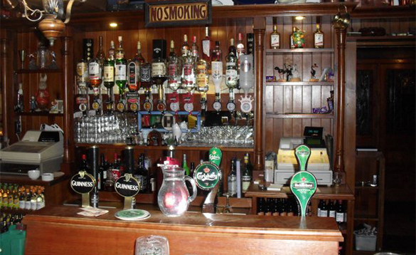 Bar in the Kilbrackan Arms pub in Carrigallen/