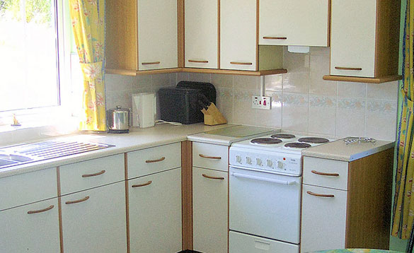 Kitchen in a self-catering cottage at Alder Cottages, Cootehill/