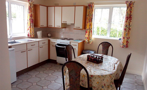 Kitchen in Alder Cottages Heron View self-catering cottage/