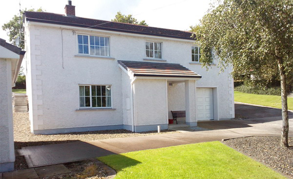 Two storey white house at Alder Cottages, Cootehill/