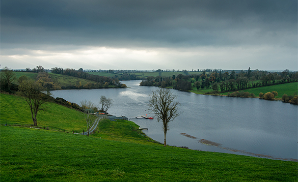 View across Carafin Lake in Ireland/