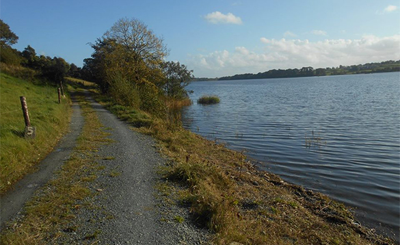 Country road beside a private fishing shoreline at Enaghan self-catering/