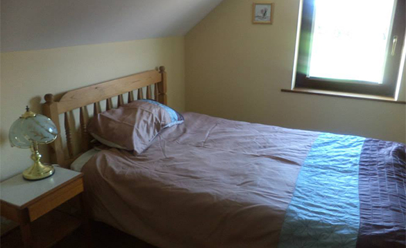 Single bedroom in the annexe at Enaghan self-catering/