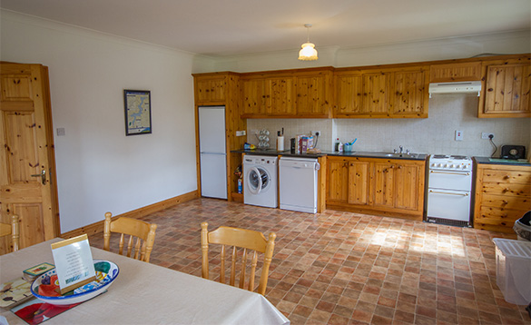 Large kitchen dining room at Tully's Lough Derg Holiday Homes/