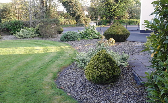 Gardens at Connolly's self-catering in Castleblayney/