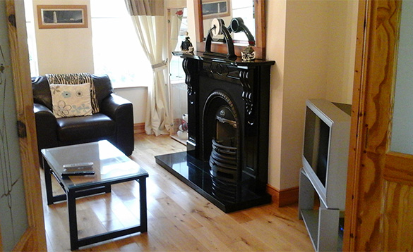 Lounge at Connolly's self-catering house in Castleblayney/