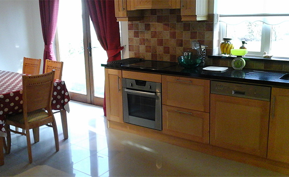 Kitchen at Connolly's self-catering house in Castleblayney/