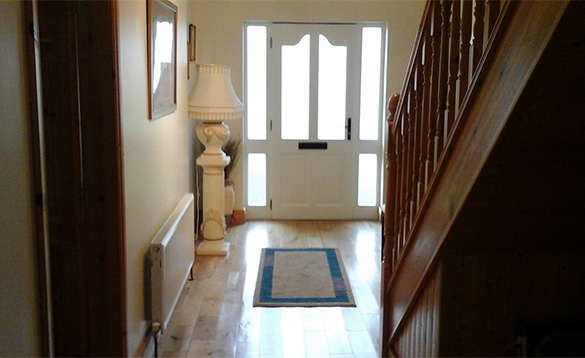 Entrance hall at Connolly's self-catering house in Castleblayney/