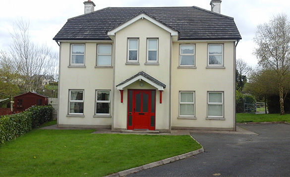 Driveway leading to Connolly's self-catering house in Castleblayney/
