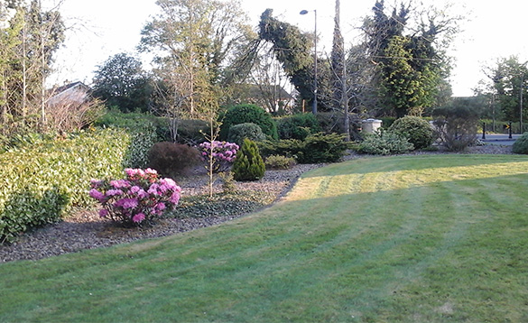 Gardens at Connolly's self-catering house in Castleblayney/