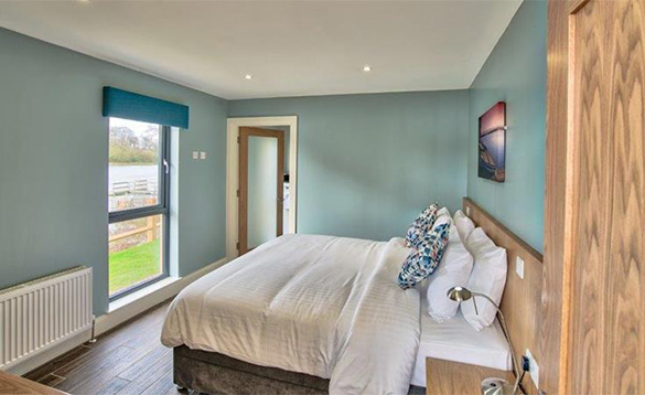 Double bedroom in the Killyhevlin self-catering chalets/