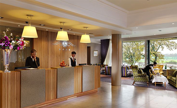 Reception area at the Killyhevlin Hotel/