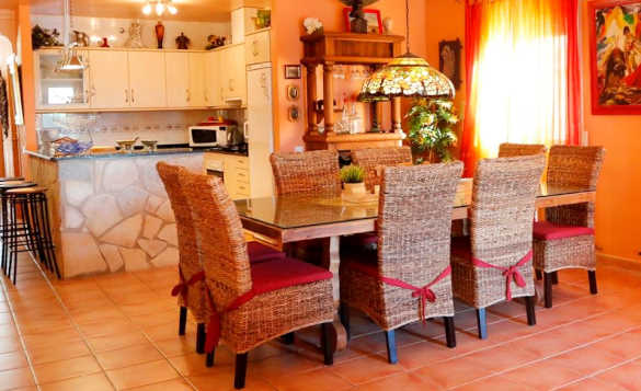 Kitchen/dining room in a self-catering villa in Ruimar, Spain/