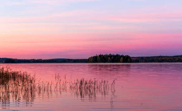 Sunset over the water, Sweden/