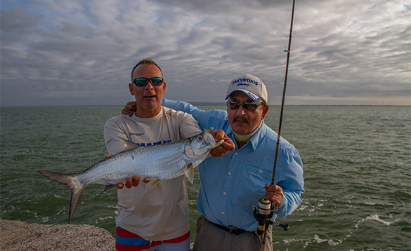 Two anglers with tarpon caught in Cuba/