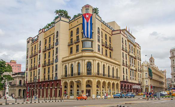 Streets and buildings in Havana, Cuba/