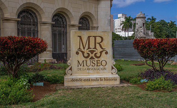 Sign for the 'Museo de la Revolucion' in Cuba/