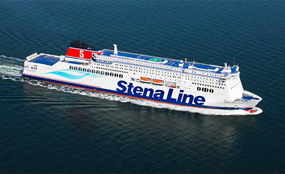 Stena Hollandica ferry out at sea/