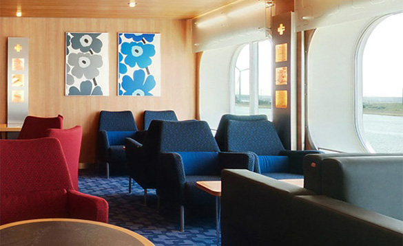 Stena Plus lounge on the Stena Line Harwich to Hook ferry/
