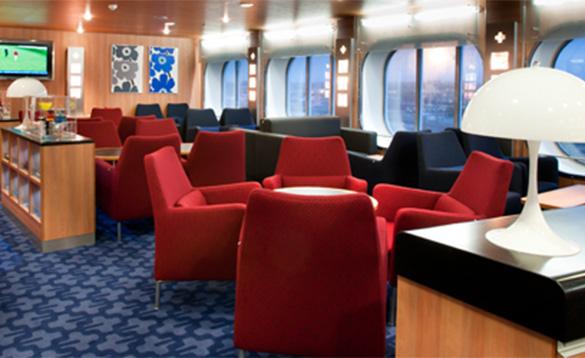 Seating lounge on the Stena Line Harwich to Hook ferry/