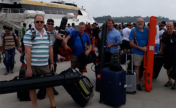 Group of anglers heading out to the Andaman Islands/