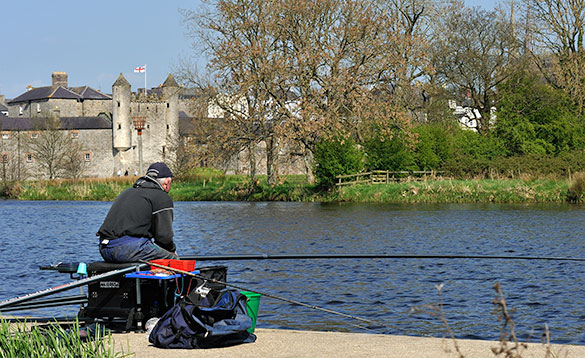 pole fishing on River Erne at Enniskillen/