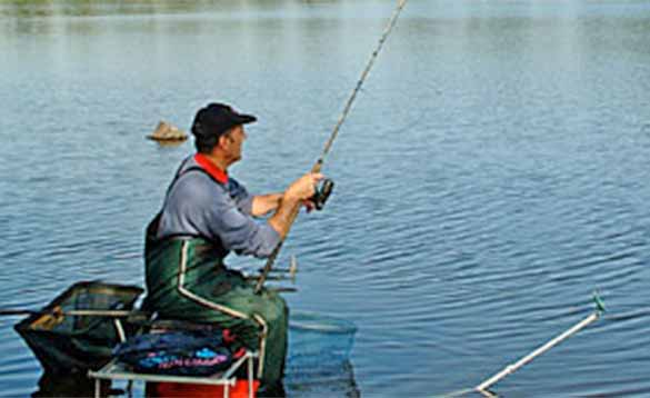 Coarse fishing on a lake in Ireland/