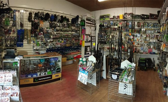 Fishing tackle in a shop/