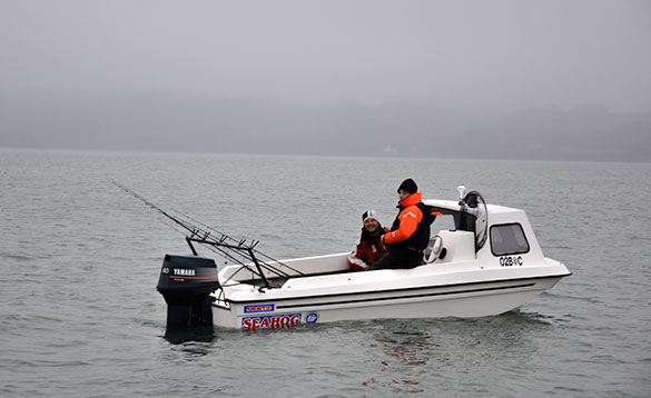 Sheltered waters are perfect for small boat fishing in Cork Harbour/