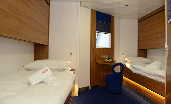 Family cabin on the Stena Lagan ferry/