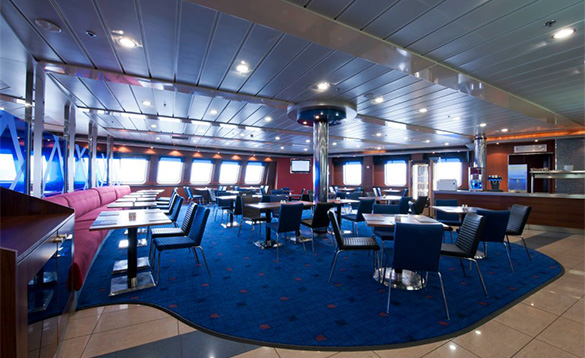 Seating area on a Stena Line ferry/