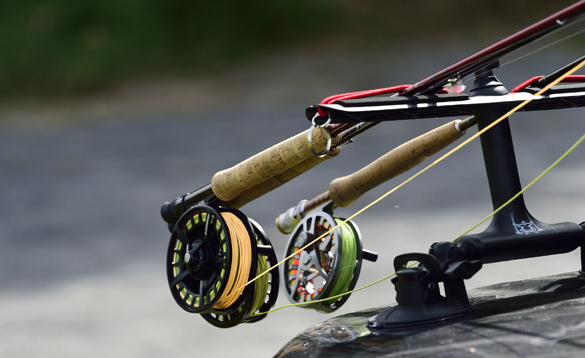 Fly fishing rods and reels/