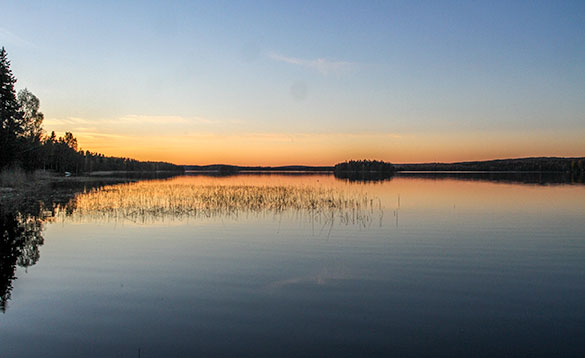 sunset on a swedish lake/